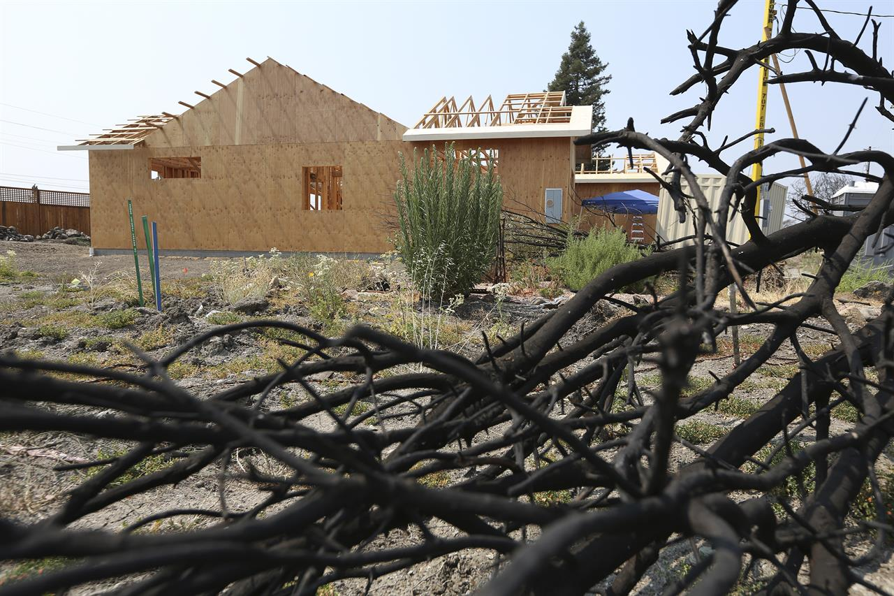 California wine country fires leave homeowners struggling for Insurance for home under construction