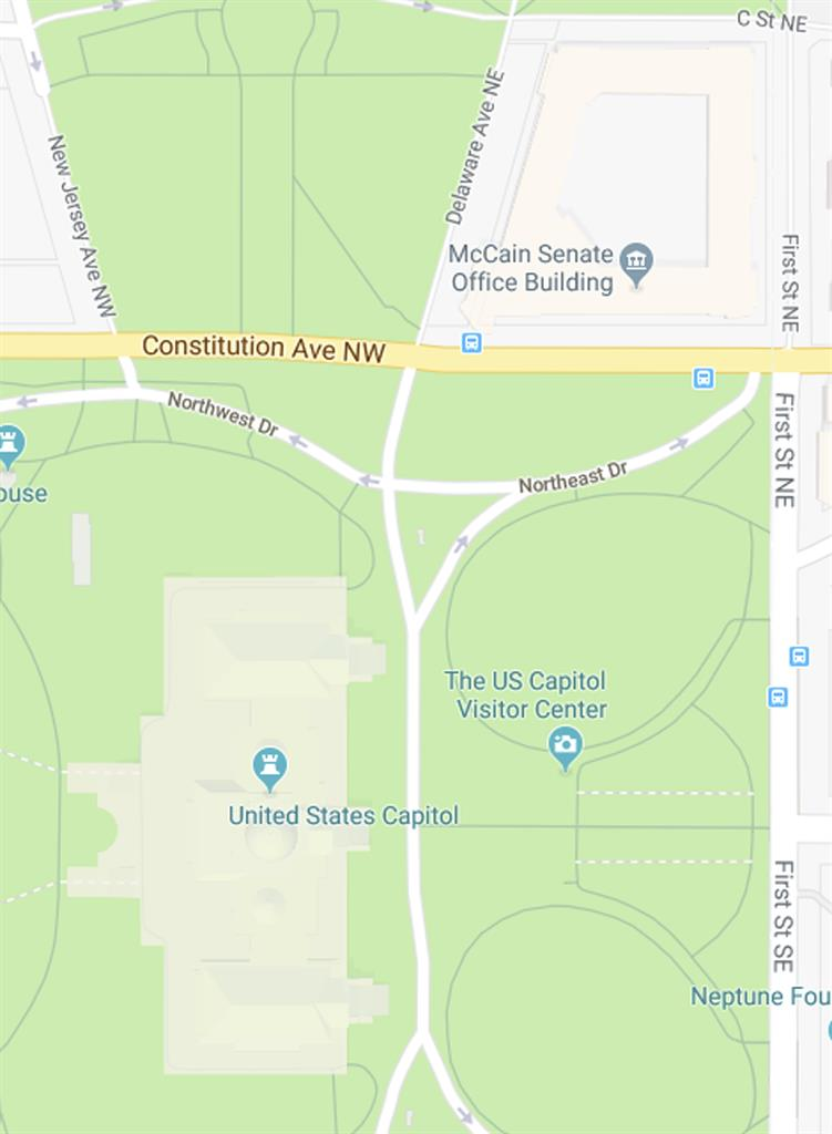 Google Maps mistakenly shows \'McCain Senate Office Building ...