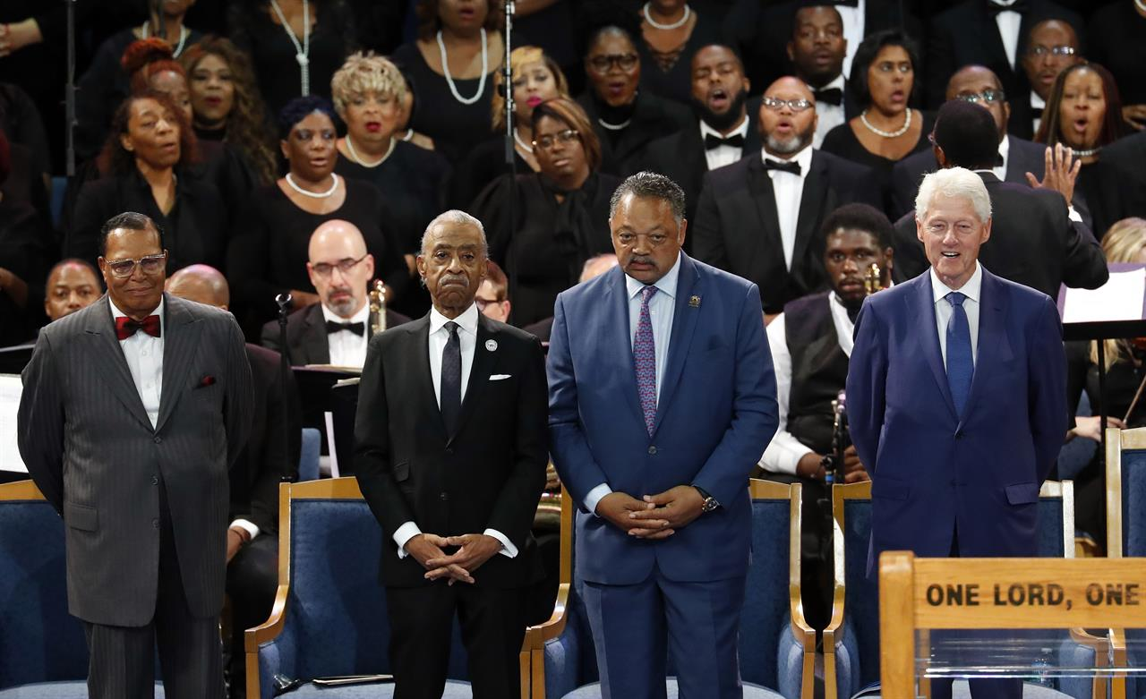 The Latest: Franklin funeral bishop apologizes to Grande