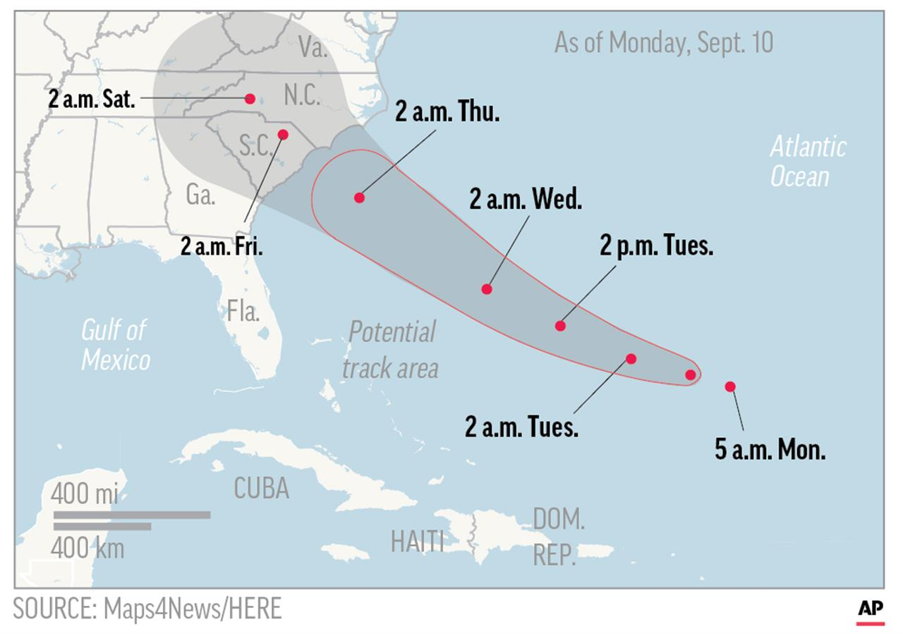 Florence Strengthens Category Takes Aim