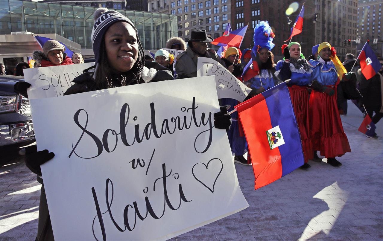 Haitians march against Trump's immigration policies | AM ...