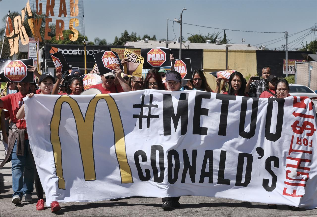 McDonald's workers across US protest against sex ...