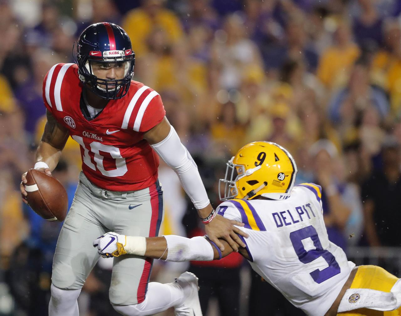 Burrow's big game leads No. 5 LSU past Ole Miss, 45-16 ...