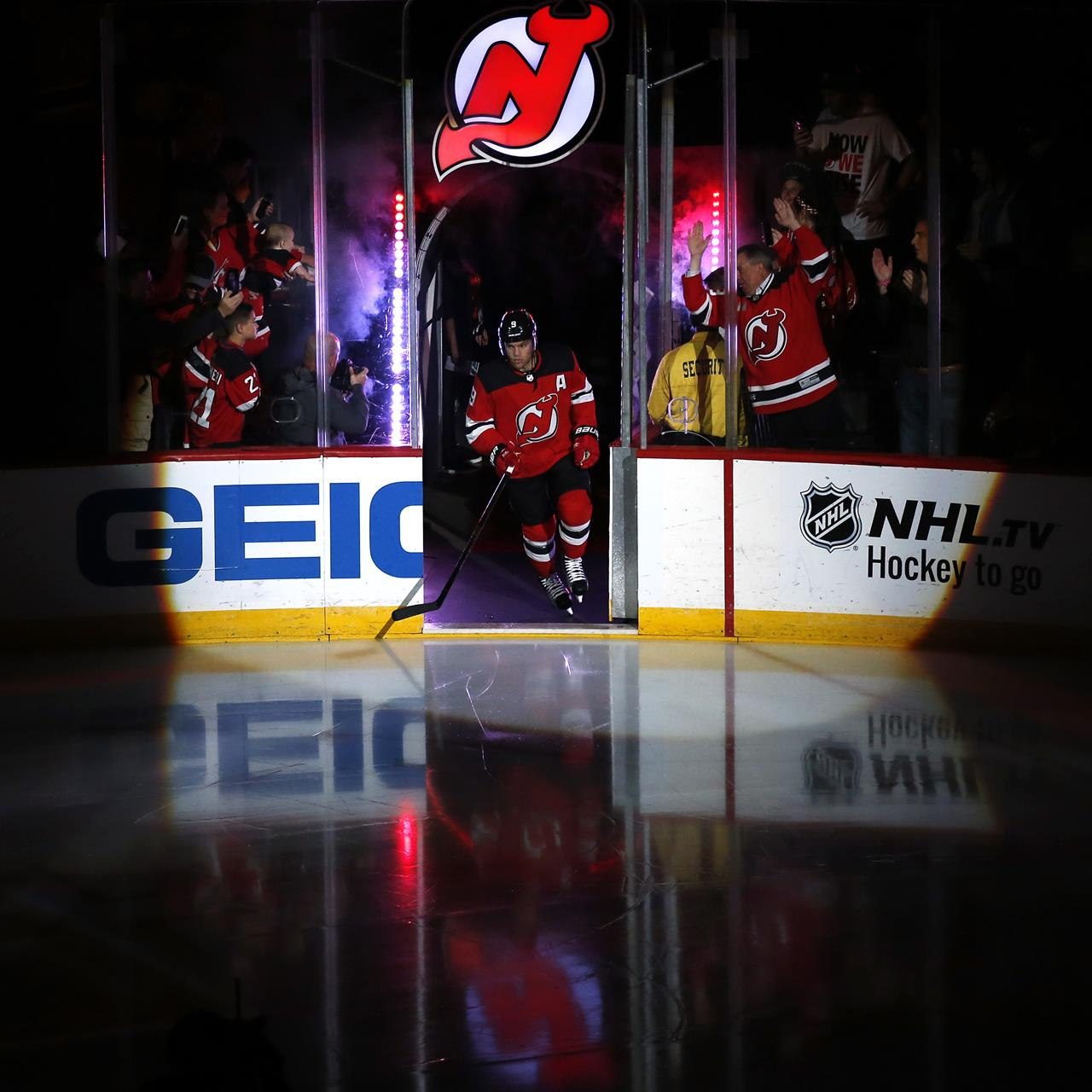 6c76941149f New Jersey Devils left wing Taylor Hall is introduced for the team s NHL  hockey game against the Washington Capitals on Thursday