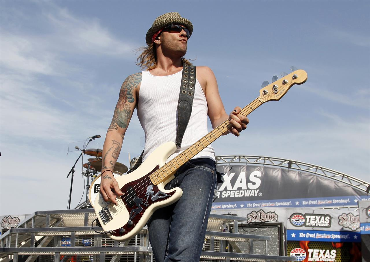 ex 3 doors down bassist gets 10 years on gun charge 1520 ForTexas Motor Speedway Concert
