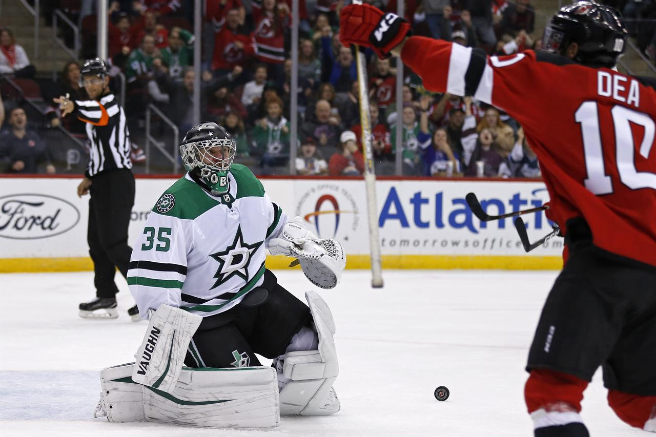 low priced f2cf6 4a8d0 Palmieri scores 7th goal, Kinkaid has 24 saves, Devils win ...