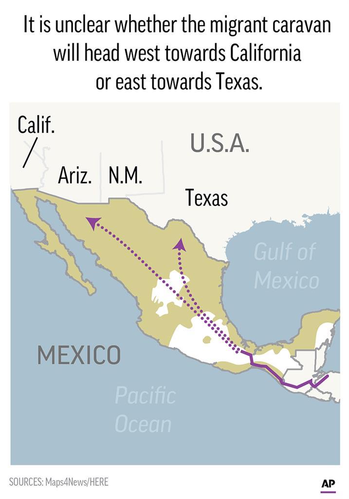 caravan migrants arrive in mexico city bed down in stadium am 970