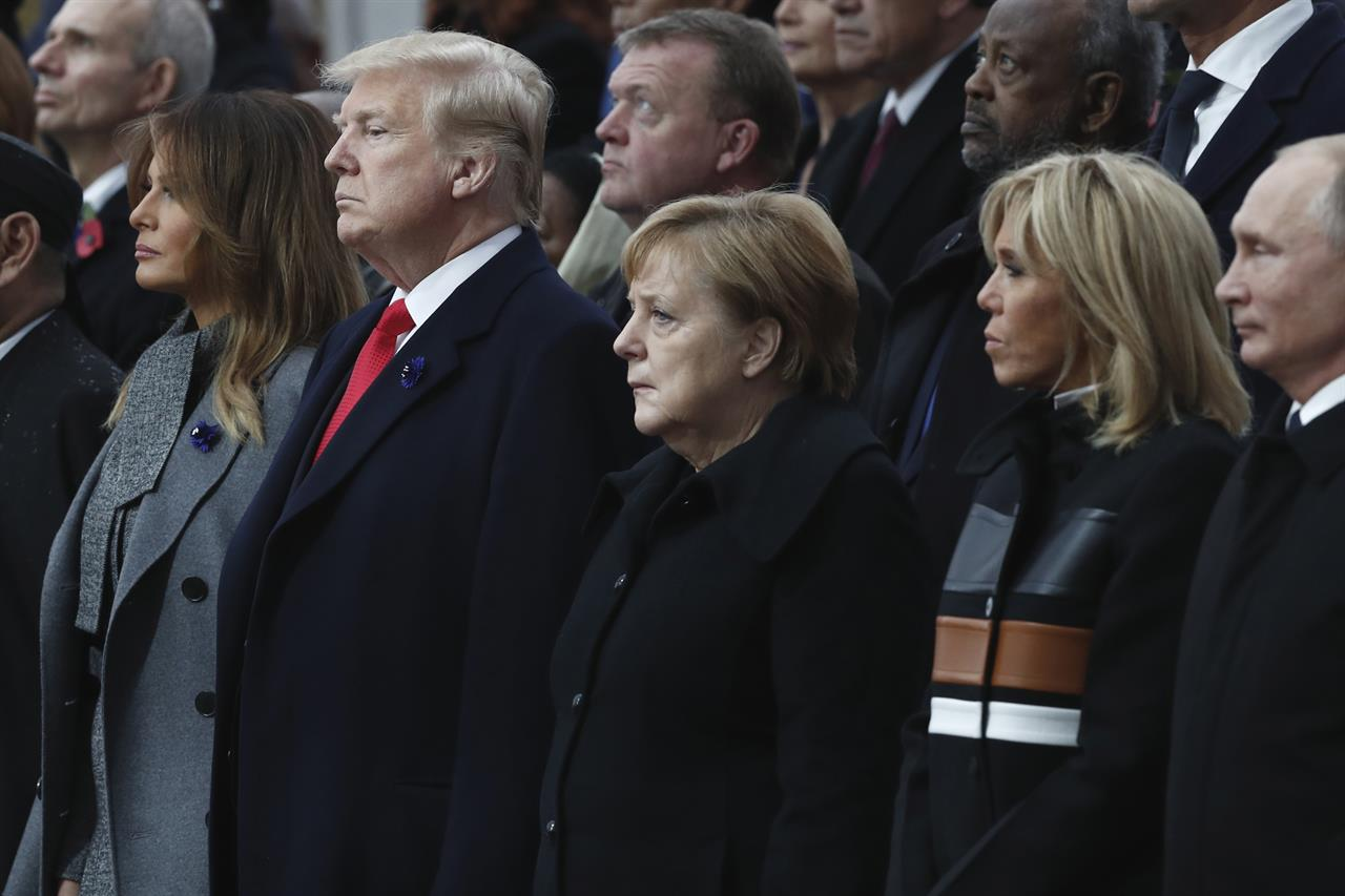 Angela Merkel Topless the latest: trump pays tribute to americans who died in wwi