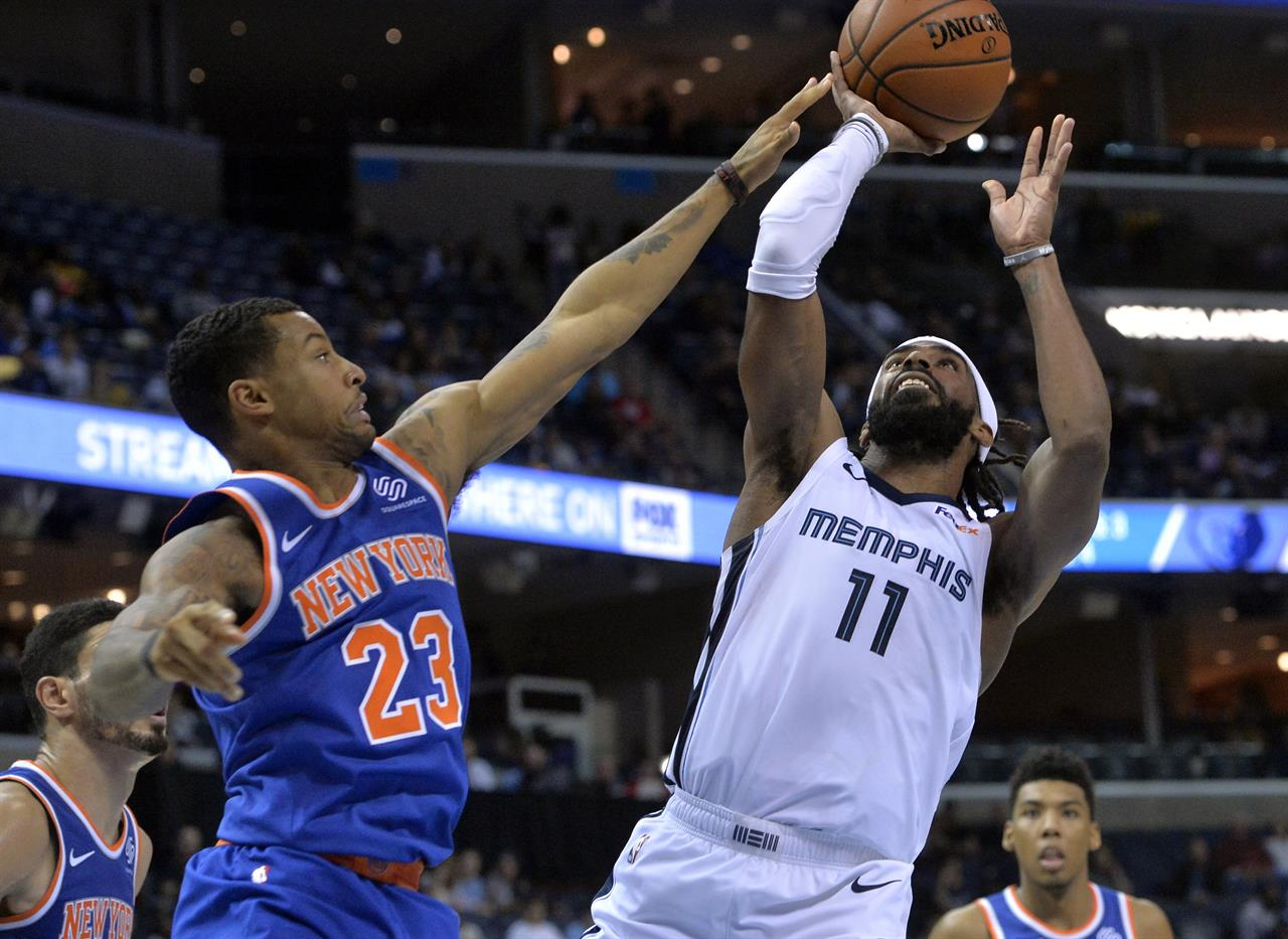 Enes Kanter has 26, Knicks top Grizzlies 103-98