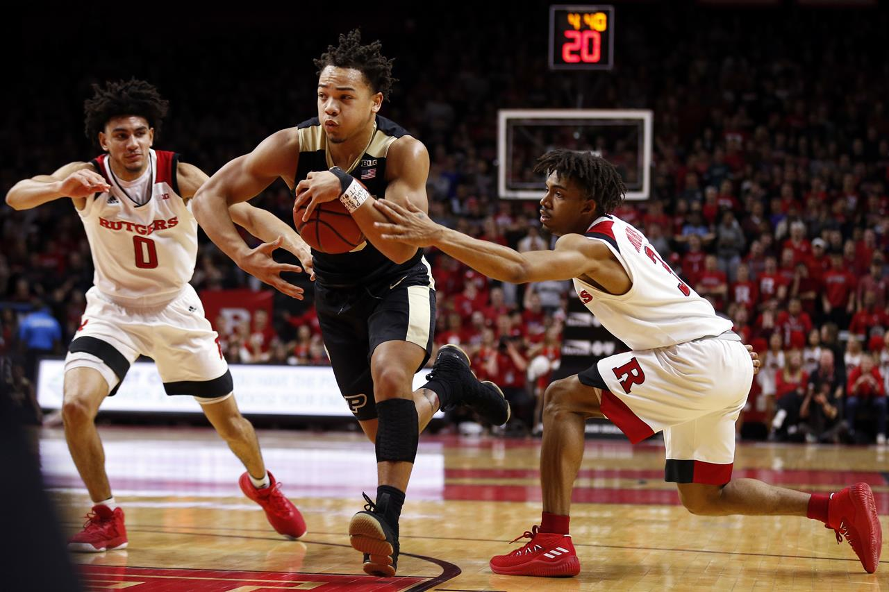Edward helps No  3 Purdue hold off Rutgers, 78-76 | KDOW-AM