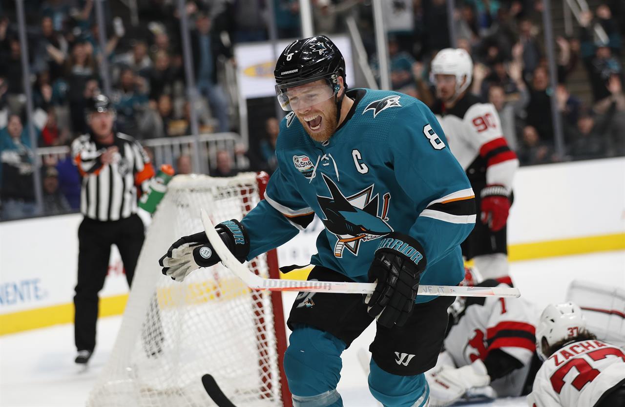 Meier's 2 goals lead Sharks past Devils, 5-2 | KDOW-AM - San