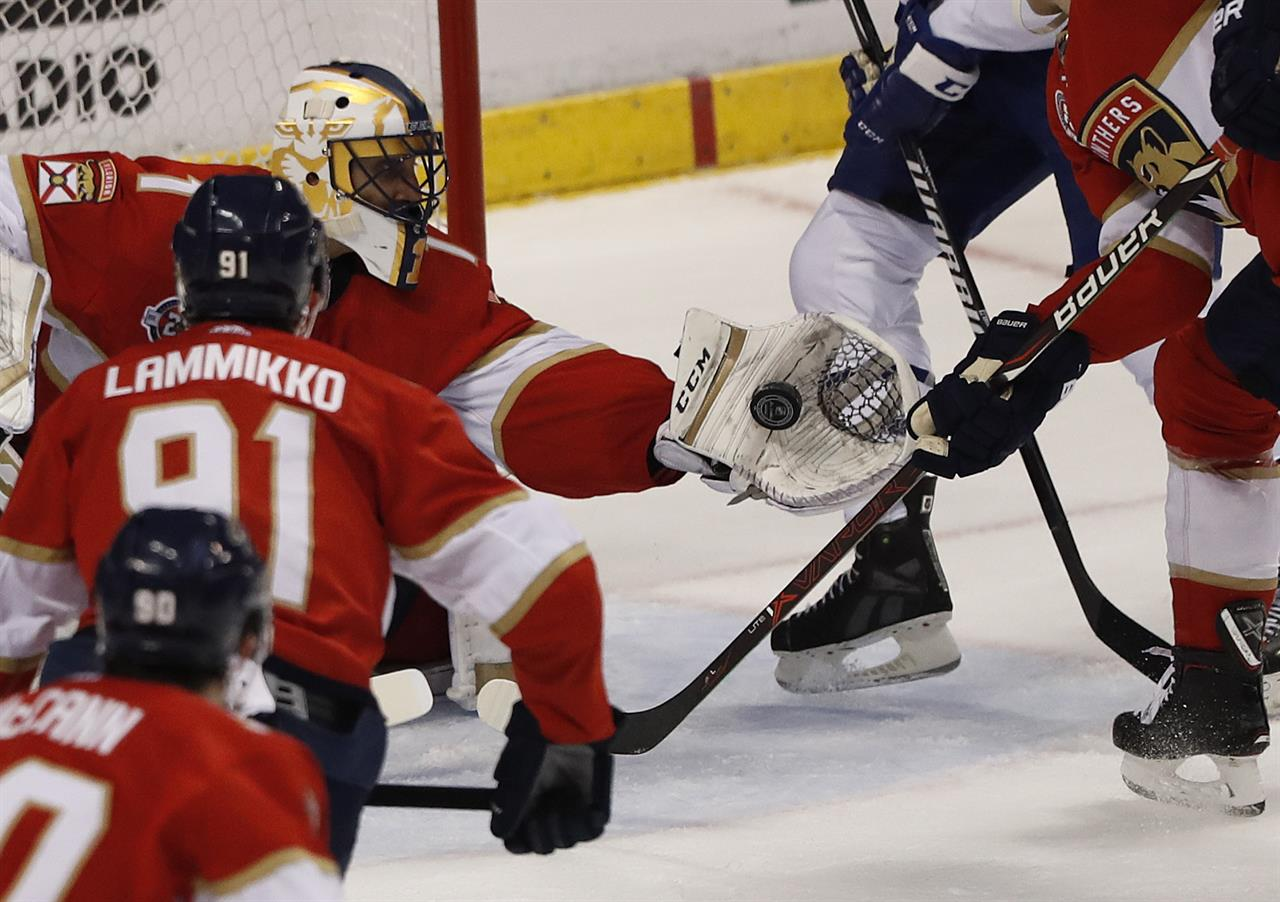 Barkov Completes Hat Trick In Ot Panthers Beat Maple Leafs Am