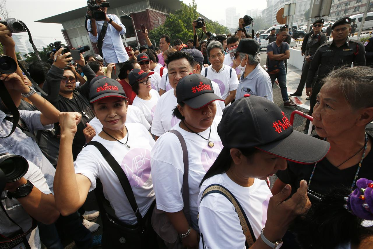 Thai activists who protested junta surrender to police ...
