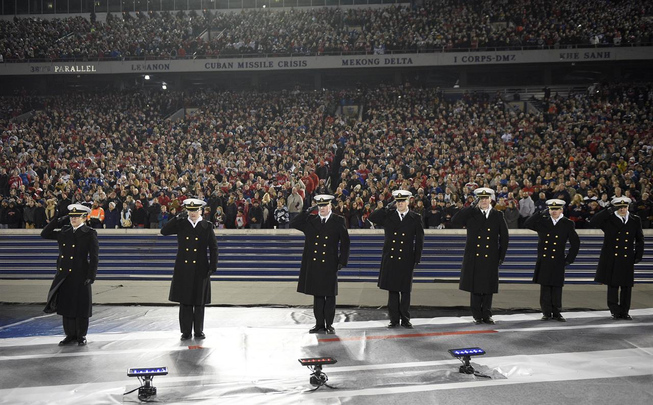 280200203 Caps light up Leafs, lights go out for outdoor game at Navy | 990 AM ...