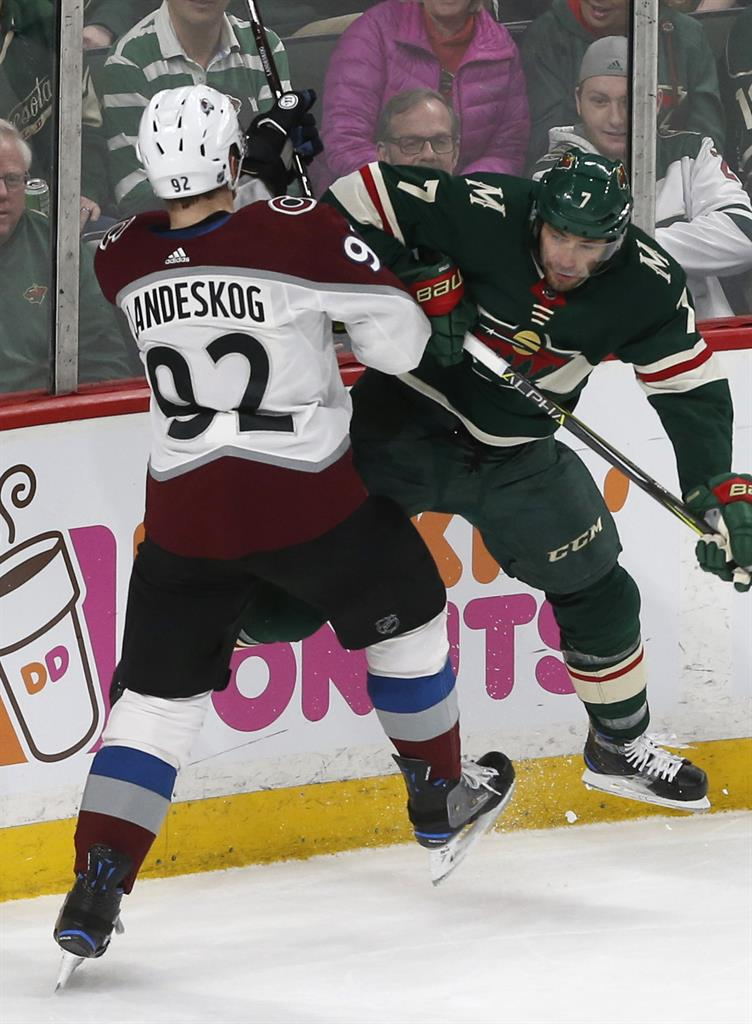 Compher's 2 goals lead Avalanche to 5-1 win over Wild | KDOW