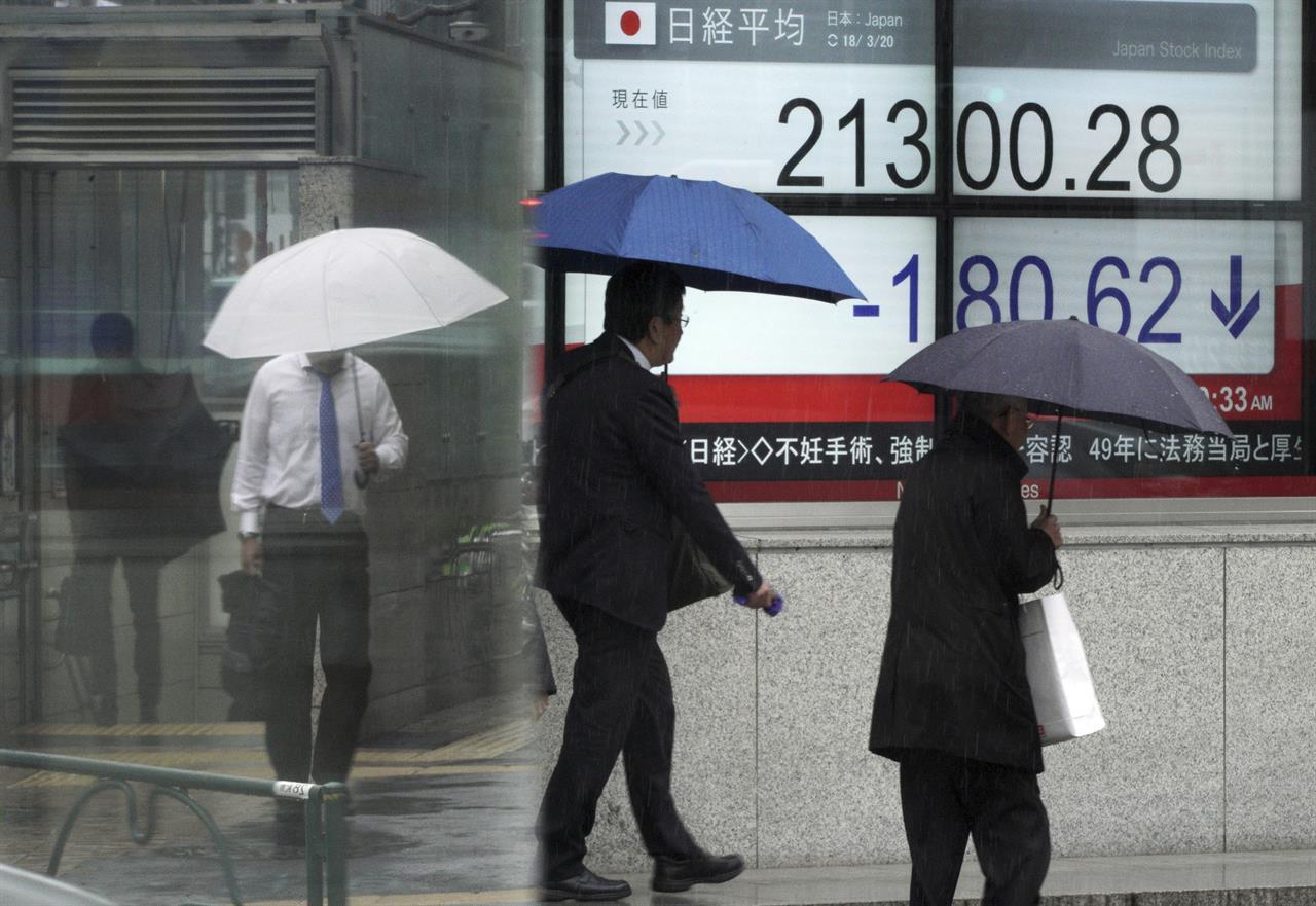 Asian shares track US tech slump, focus on Fed meeting