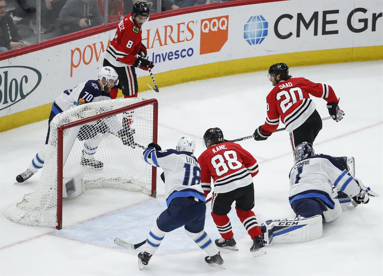 Accountant Turned Goalie Helps Blackhawks Beat Jets The Answer