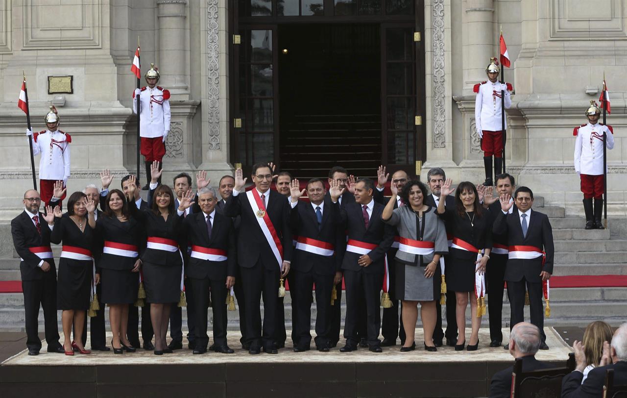 New Peruvian President Martin Vizcarra Names His Cabinet Money