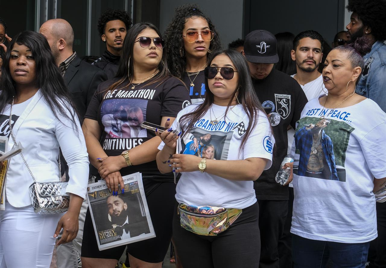 Nipsey Hussle becomes face of downtown LA on day of memorial | AM