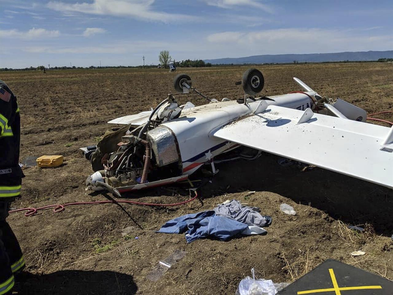 1 taken to hospital after small plane crash in California | AM 1380