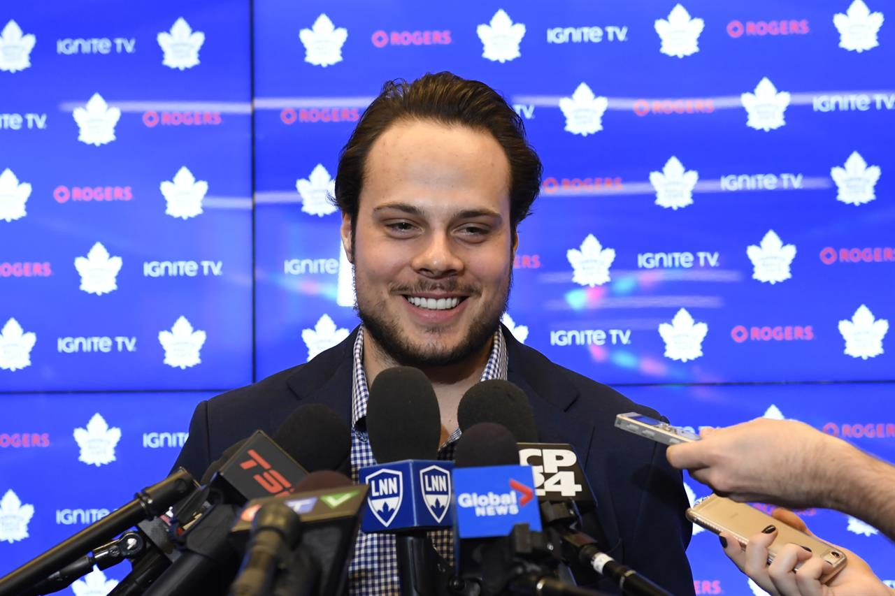 File In This Tuesday Feb 5 2019 Photo Toronto Maple Leafs Center Auston Matthews Smiles At A Press Conference