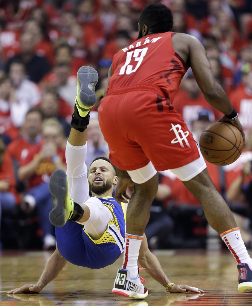 Harden Scores 38 As Rockets Even Series With Warriors