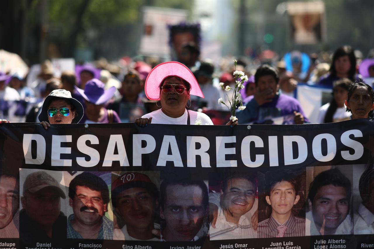 Thousands of mothers of disappeared march across Mexico