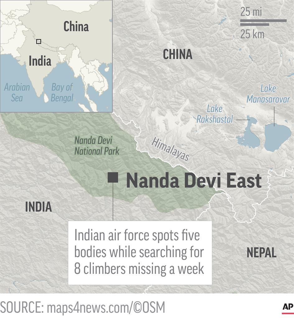 Rescue chopper unable to reach bodies on Himalayan mountain | AM ...