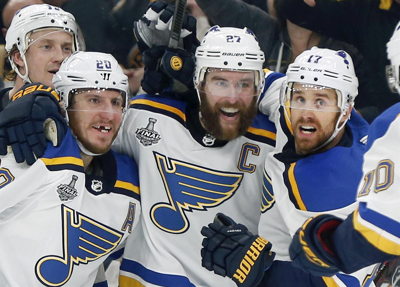 Arch Madness Blues Win 1st Stanley Cup Beating Bruins 4 1 The Answer 94 5 Fm Greenville Sc