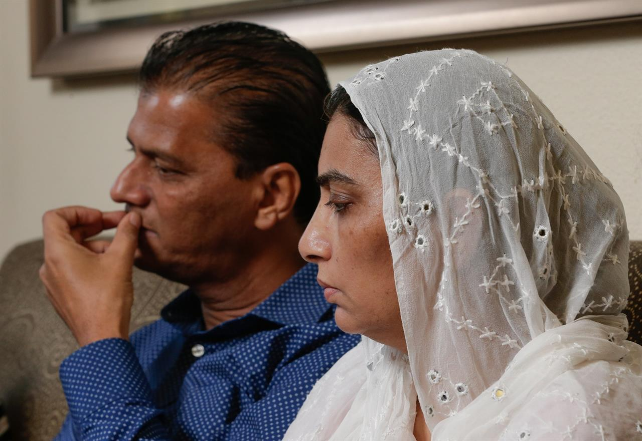 Pakistani family visits school where exchange student shot