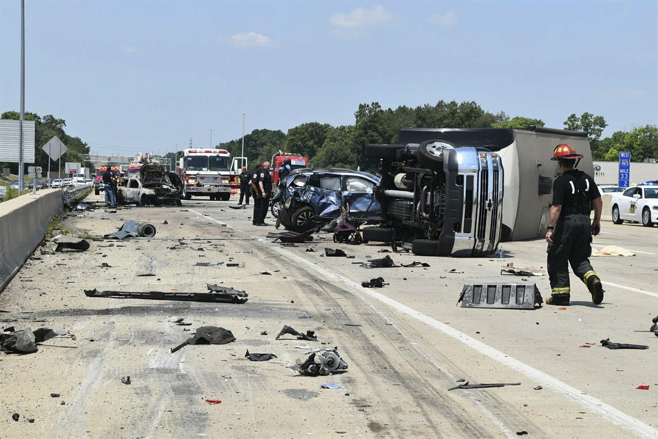 Police say trucker speeding in Indiana crash that killed 3 | The