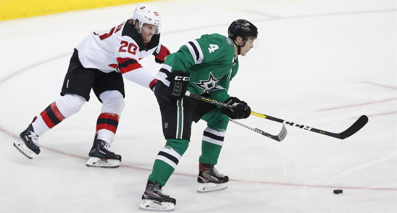 Heiskanen's third-period goal lifts Stars over Devils 5-4