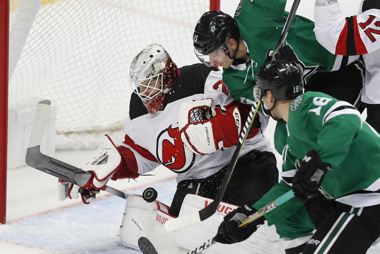 71c323747 Heiskanen s third-period goal lifts Stars over Devils 5-4