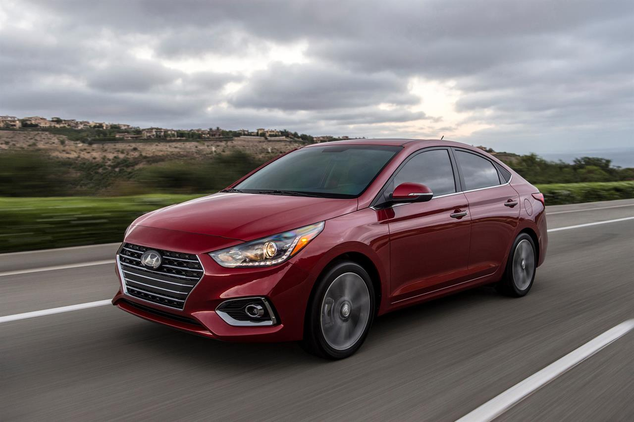 This Undated Photo Provided By Hyundai Shows The 2019 Accent Offers Invigorated Handling And 32 Mpg Combined Motor America Via