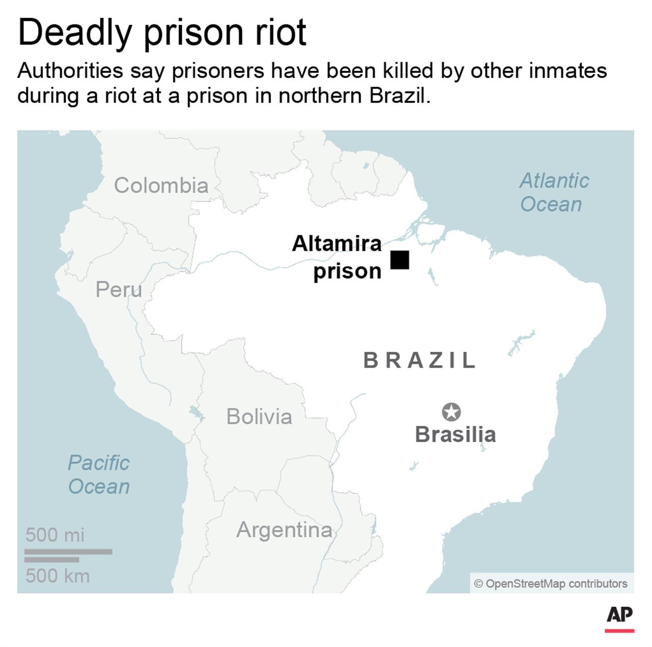 Officials say 57 dead in zil prison riot; 16 decapitated ... on