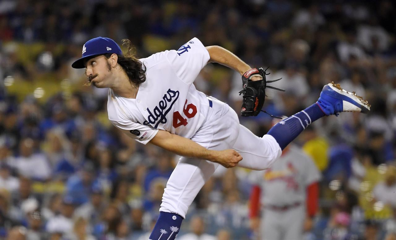 Tony Gonsolin Earns 1st Win In Dodgers 8 0 Rout Of Cards
