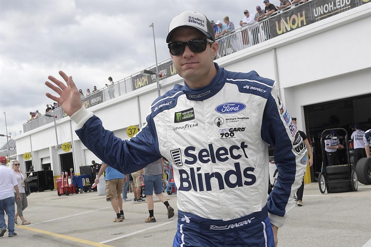 David Ragan turning to part-time NASCAR racing in 2020