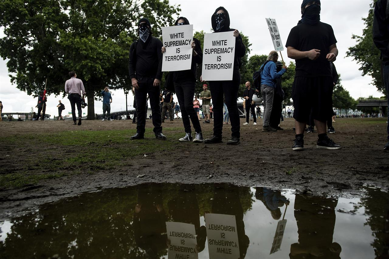 The Latest: 'Long and arduous' protests in Portland, Oregon