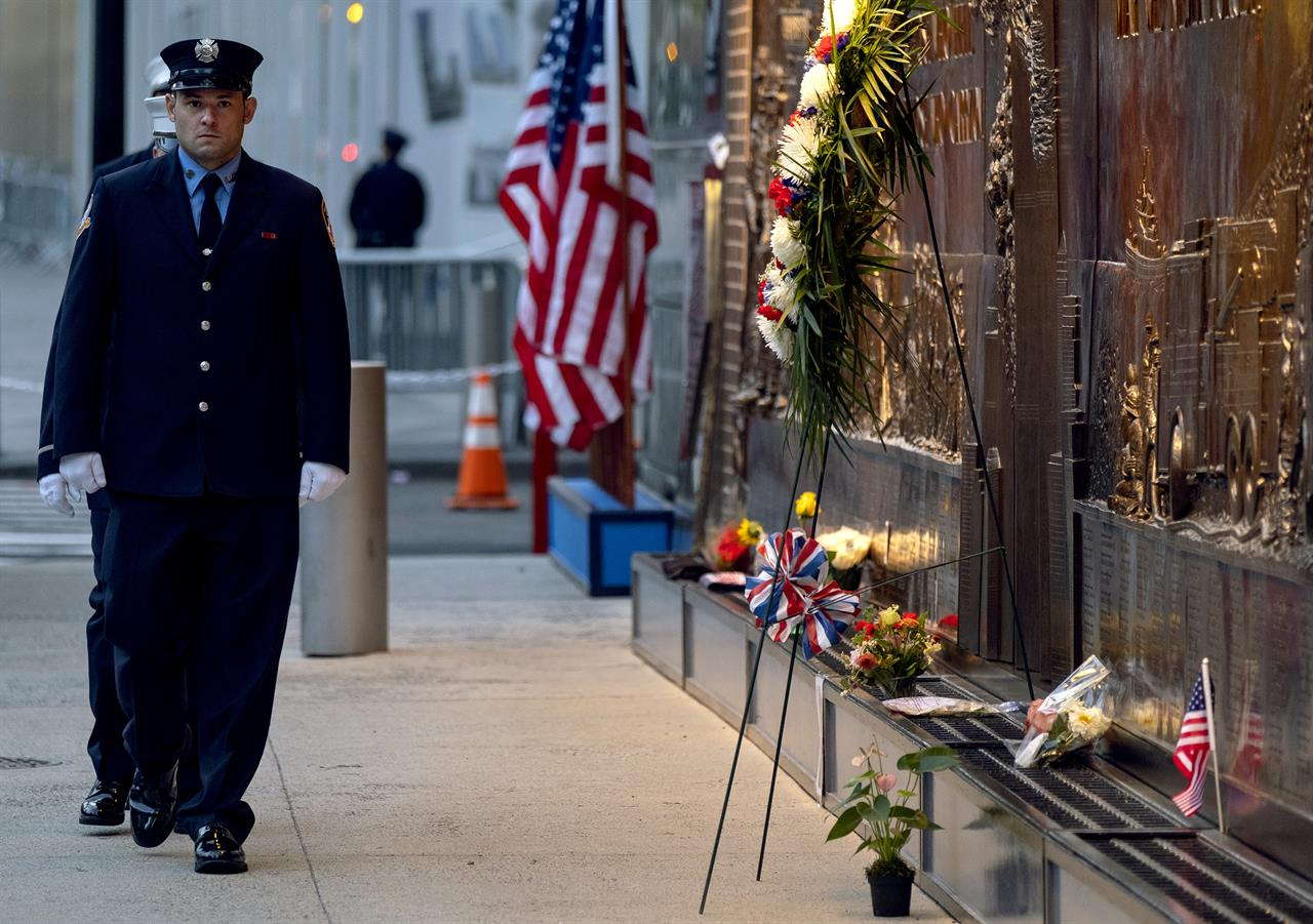 The Latest: Teen born in 9/11 wake joins Navy on anniversary