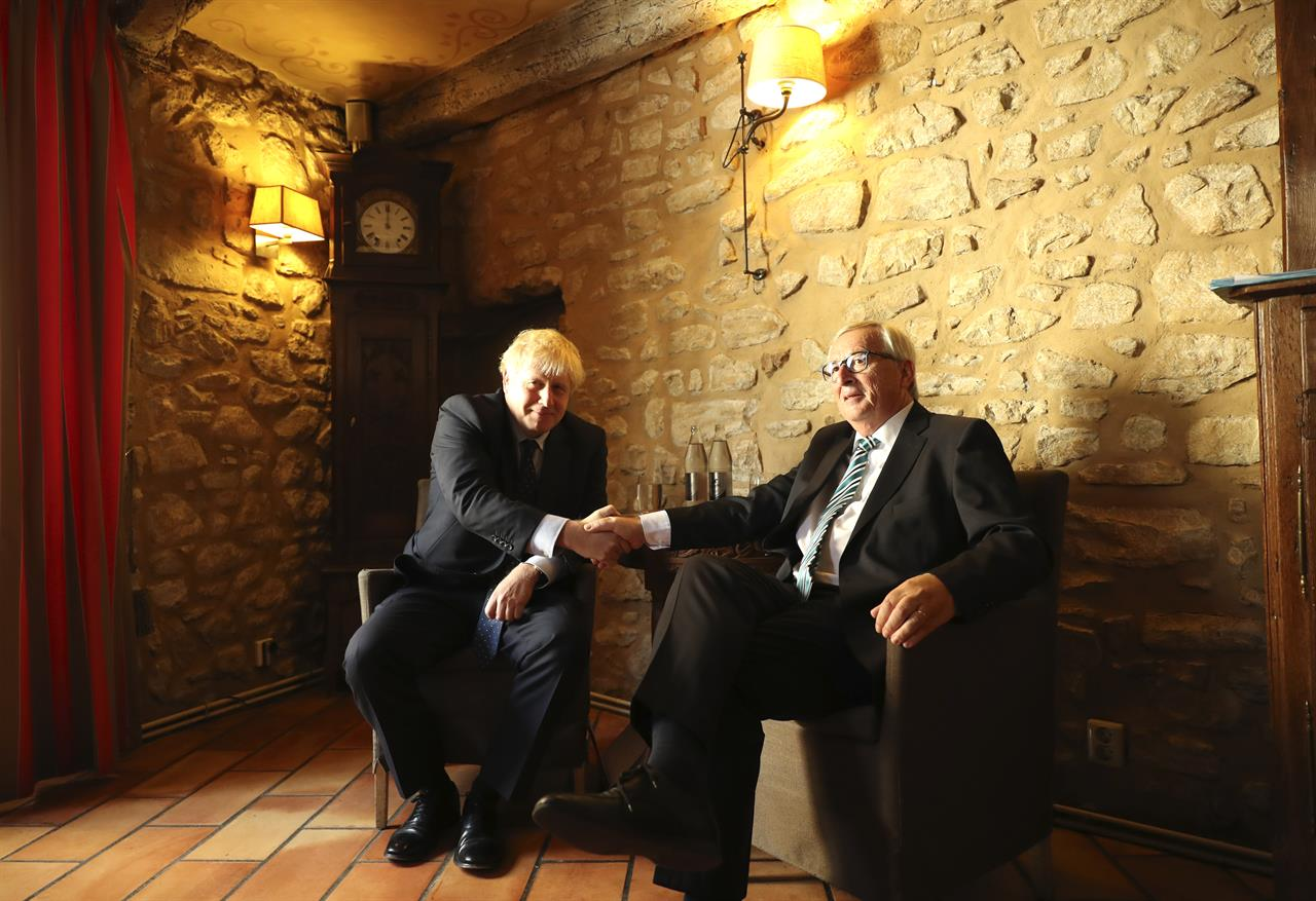 The Latest: Johnson says he can see 'shape' of a Brexit deal