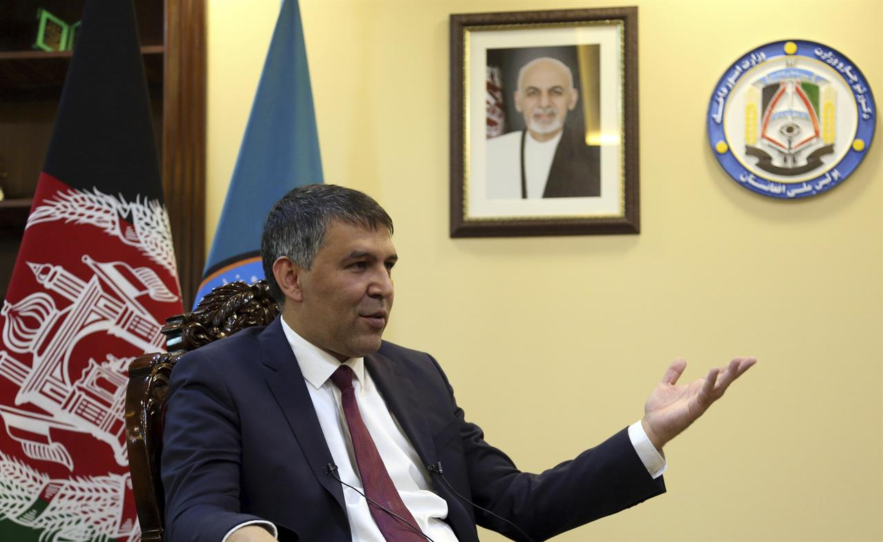 Minister tells AP Afghan police are hardest hit by attacks