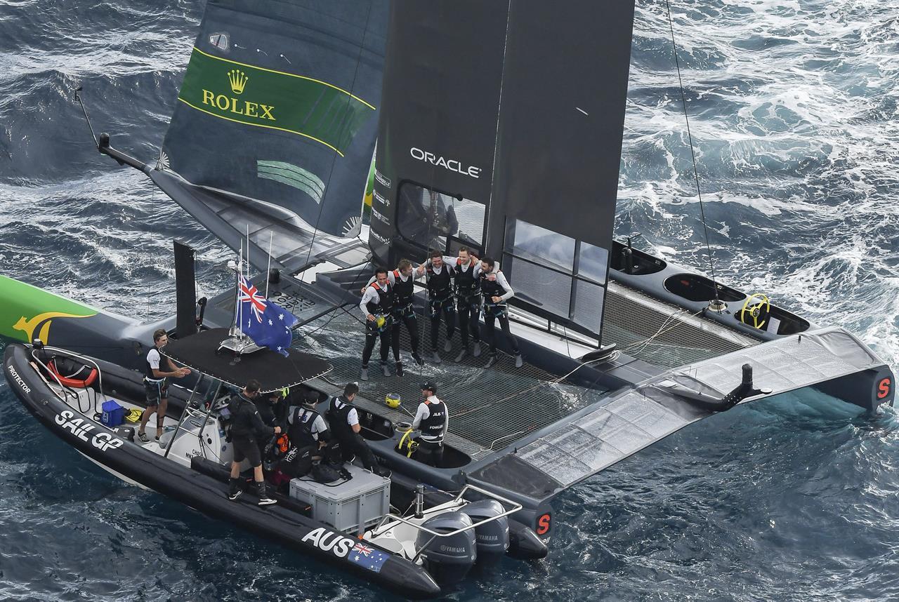Slingsby steers Aussies to $1 million SailGP victory