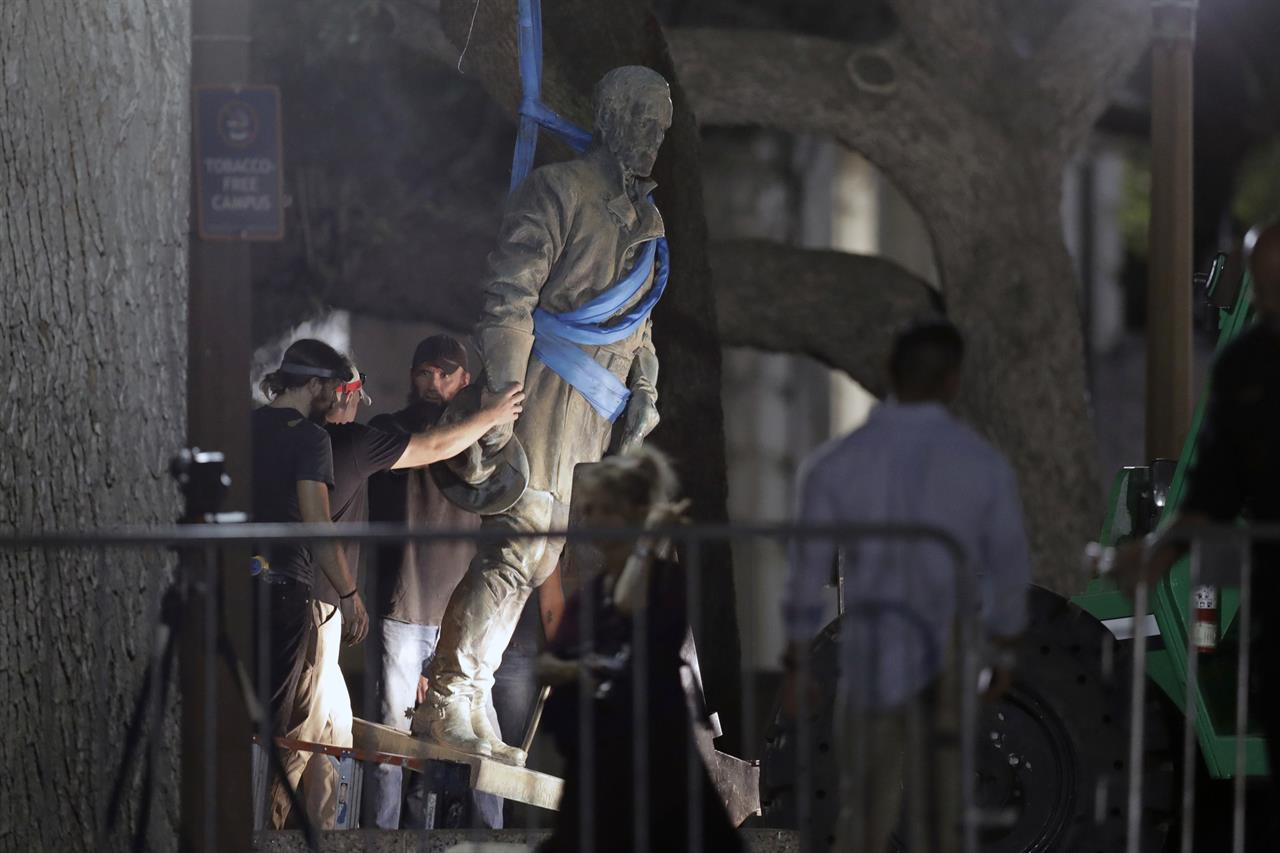 Group argues Confederate statue removals violate free speech