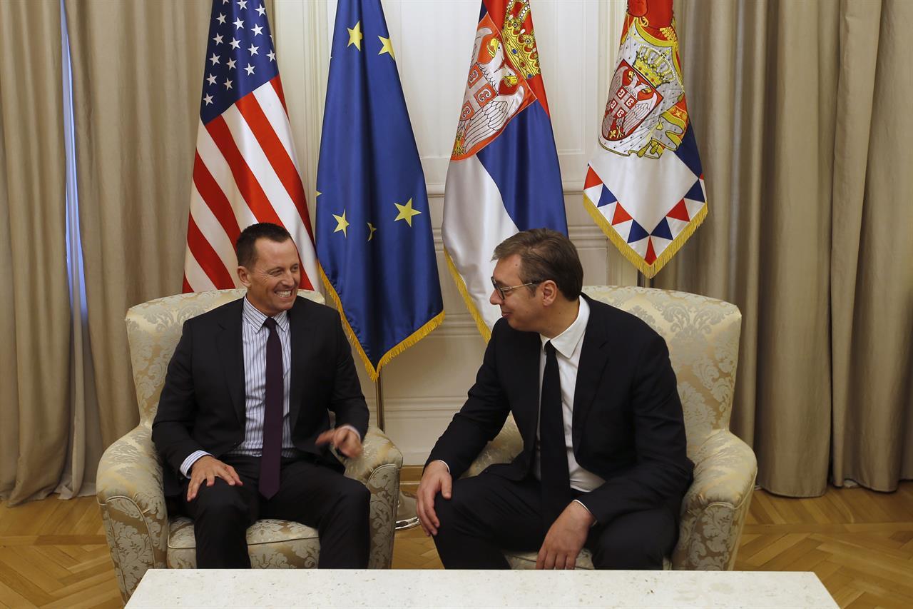Trump's envoy for Kosovo talks meets Serbia officials