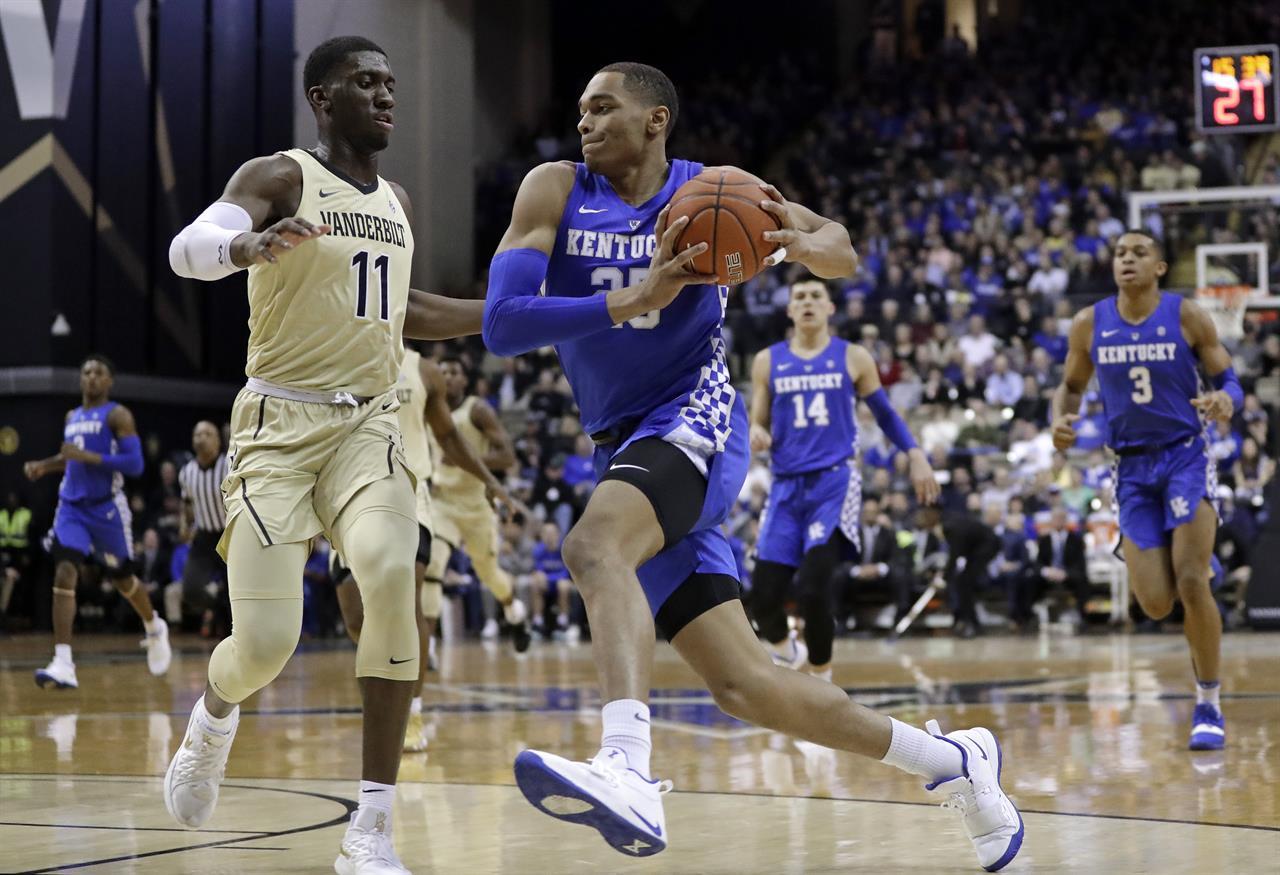 Cowgill 6 Uk Basketball Visits Vanderbilt Tuesday: Washington Scores 26 As No. 7 Kentucky Routs Vandy 87-52