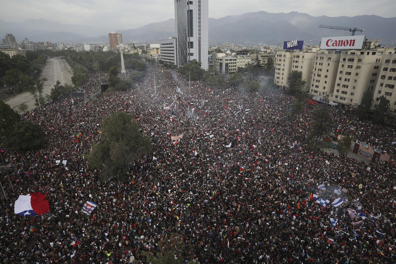 Students keep driving protests demanding change in Chile
