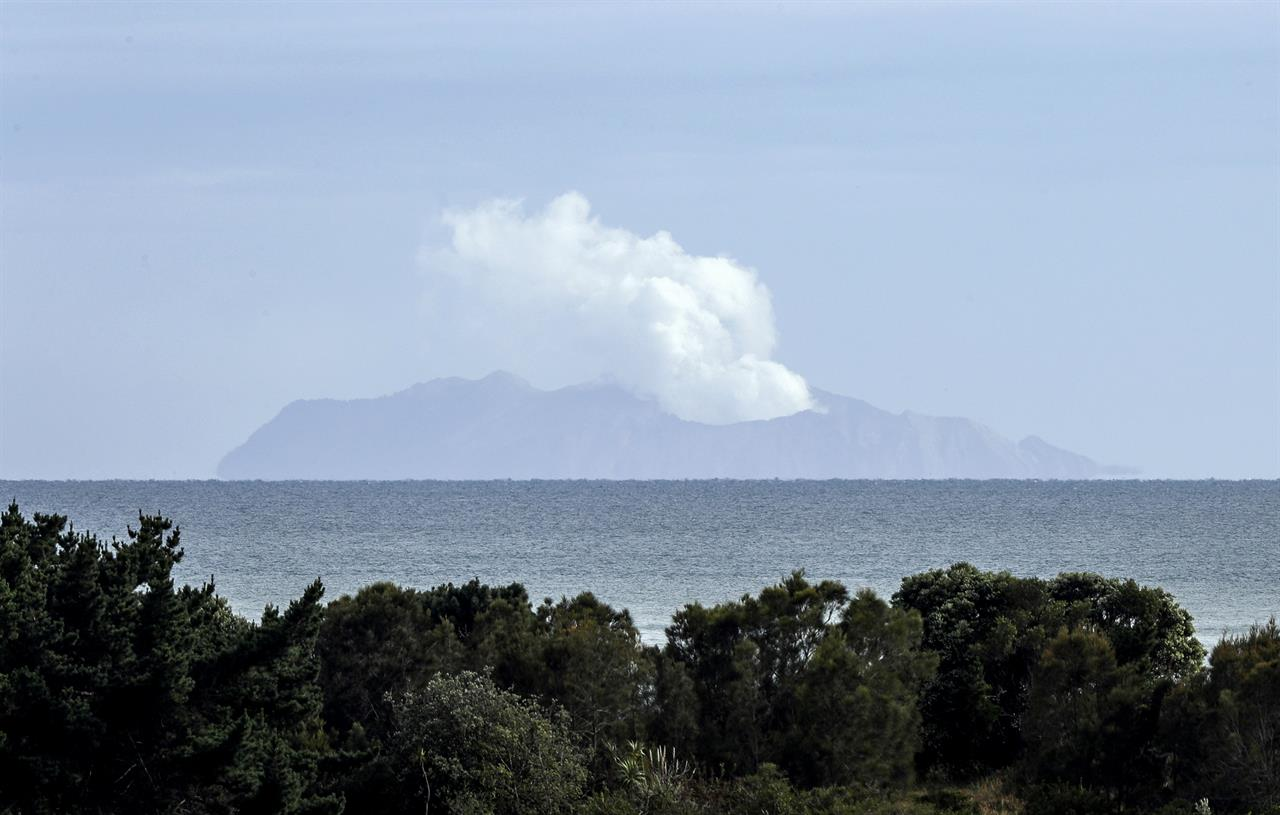 New Zealand volcano vents steam, death toll now at 16