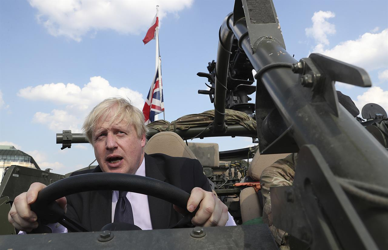 UK's Johnson pushes his Brexit message as election nears