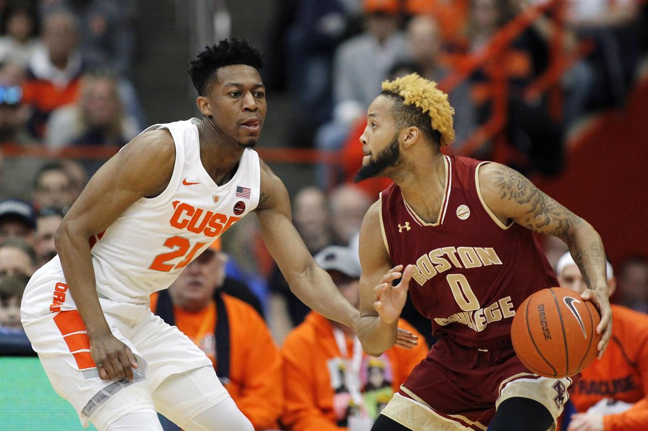 Battle Boeheim Help Syracuse Hold Off Boston College The Answer