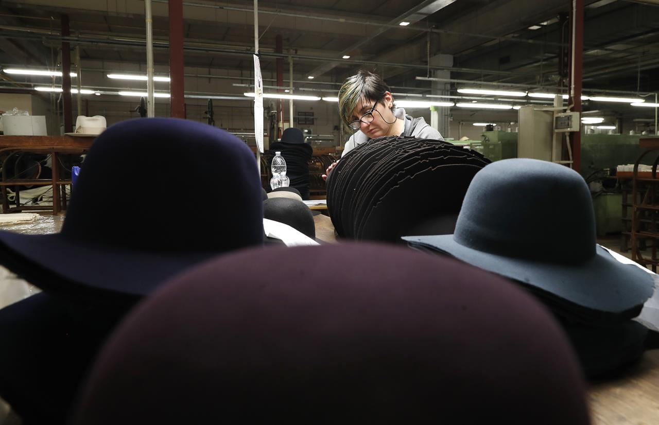 d82651c3e24 ... From Bogart to millennials  Italian hat maker tries new look ...